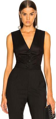 Dolce & Gabbana Pinstripe Wool Vest