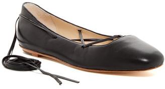 Delman Faith Lace-Up Ballet Flat $198 thestylecure.com