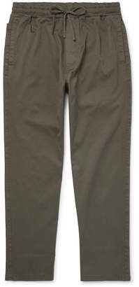YMC Alva Stretch-Cotton Twill Drawstring Trousers - Men - Green