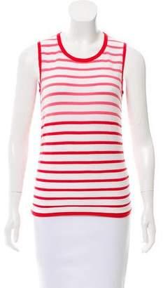 Paule Ka Striped Knit Top