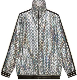 Gucci Laminated sparkling GG jersey jacket