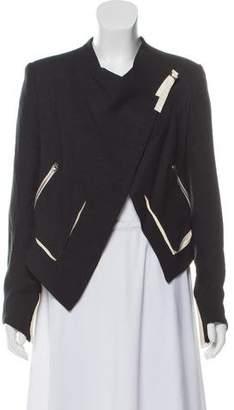 Helmut Lang Asymmetric Cropped Jacket