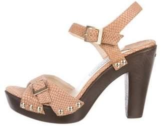 Jimmy Choo Embossed Platform Sandals