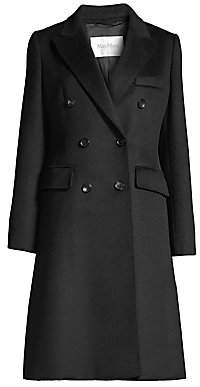 Max Mara Women's Rigel Tailored Camel Wool A-Line Coat
