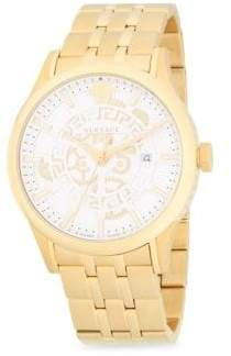 Versace Logo Stainless Steel Bracelet Watch