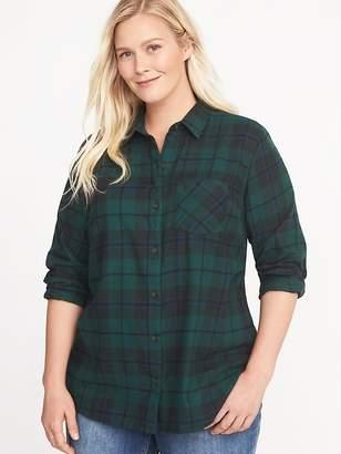 Old Navy Classic Plaid No-Peek Plus-Size Flannel Shirt