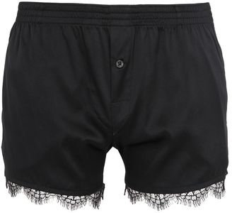 Stretch Silk Satin Boxers With Lace Trim $328 thestylecure.com