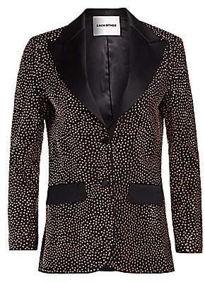 Each X Other Women's Metallic Embellished Wool Single-Breasted Blazer
