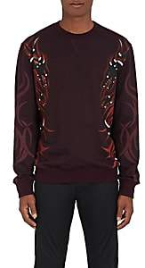 Lanvin Men's Dragon-Print Cotton French Terry Sweatshirt-Md. Red