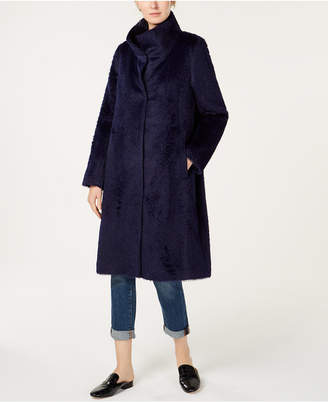 Eileen Fisher Alpaca High-Collar Coat