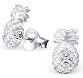 Lucy Loves Neko Pineapple Earrings In Sterling Silver