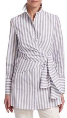Akris Punto Striped Wrap Tunic