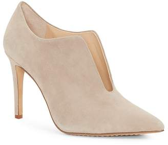 Vince Camuto Women's Metseya Almond Toe Suede High-Heel Booties