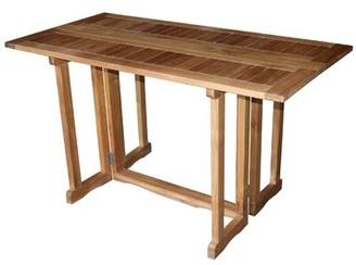 Bayou Breeze Warren Folding Extendable Solid Wood Dining Table Bayou Breeze