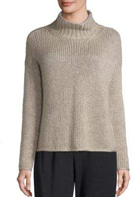 Eileen Fisher Silk & Cashmere Blend Knitted Top