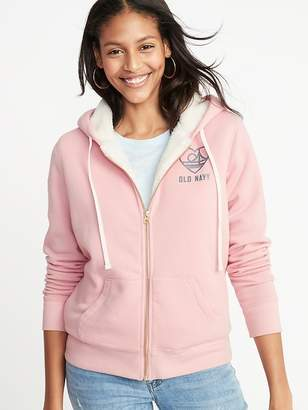 Old Navy Relaxed Sherpa-Lined Zip Hoodie for Women