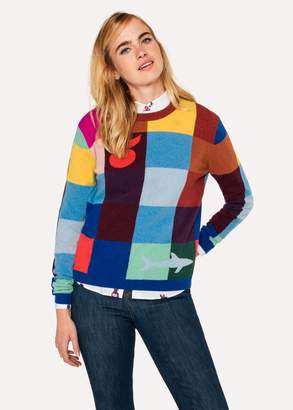 Paul Smith Women's Color-Block Check Wool-Blend Sweater