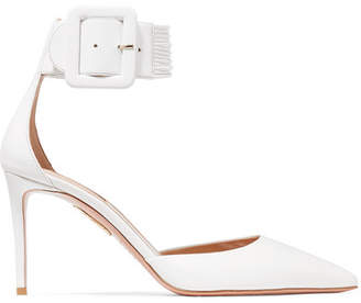 Aquazzura Casablanca Leather Pumps - White