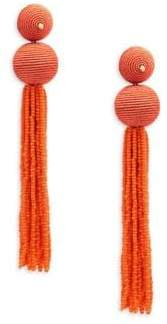Kenneth Jay Lane Ball Tassle Drop Earrings