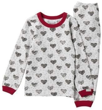 Coccoli Heart Print Top & Pant Set (Baby Girls)