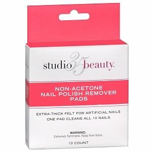 Studio 35 Nail Polish Remover Pads, Non-Acetone