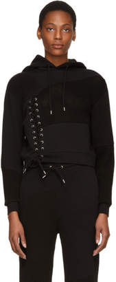 McQ Black Lace Patched Hoodie