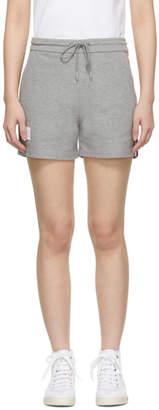 Thom Browne Grey Classic Pique Stripe Shorts