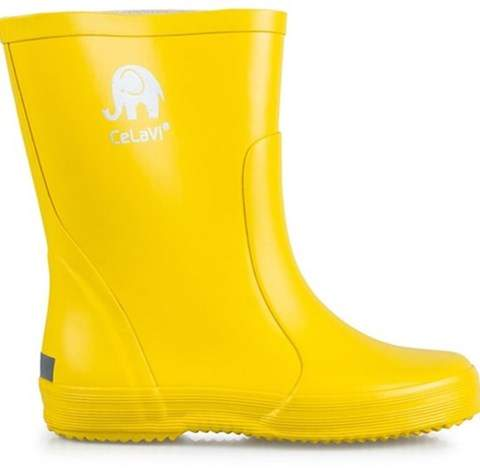 Celavi Yellow Basic Rain Boots