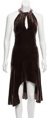 Michael Kors Velvet Midi Dress w/ Tags