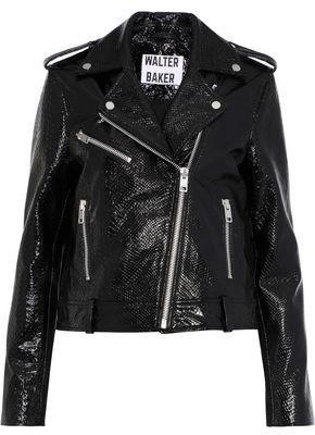Walter W118 By Baker James Snake-effect Patent-leather Biker Jacket