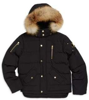 Moose Knuckles Kid's Premium 3Q Fox Fur-Trim Parka