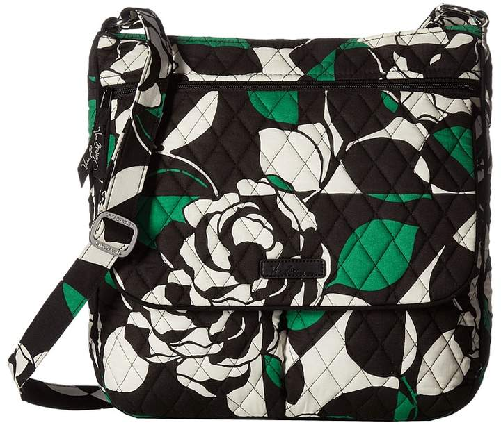 Vera Bradley Double Zip Mailbag Cross Body Handbags - IMPERIAL ROSE - STYLE