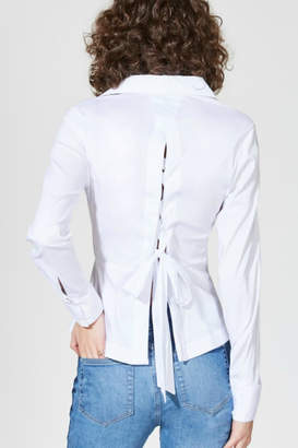 Bailey 44 Lace-Up Back Blouse