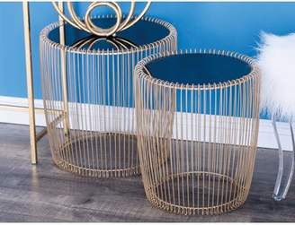 Cole & Grey Metal/Glass End Table