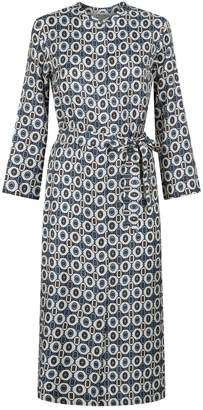 Max Mara Silk Geometric Shirt Dress