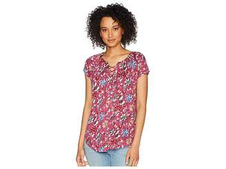 ... Chaps Lace-Up Jersey Top Women s Clothing e946696f2
