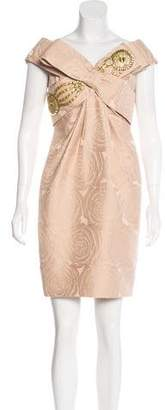 Marchesa Embellished Jacquard Dres w/ Tags