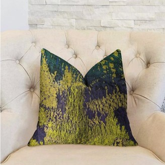 Rainforest Plutus Brands Plutus Emerald Green, Yellow and Blue Luxury Throw Pillow