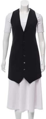 CNC Costume National Longline Button-Up Vest Black Longline Button-Up Vest