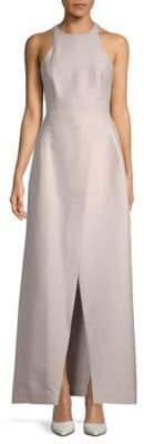 Halston A-Line Halter Gown