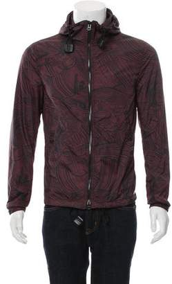 Burberry Abstract Pattern Lightweight Zip-Up Jacket