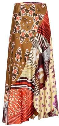 Chloé Printed silk midi skirt