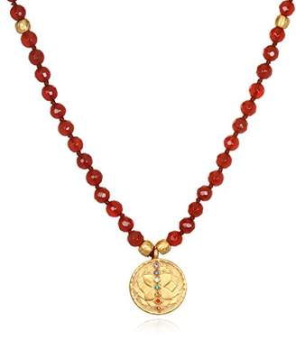 Satya Jewelry Women's Carnelian Gold Chakra Tassel Mala Necklace 30-Inch