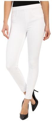 Spanx Cut & Sew Cropped Indigo Knit Leggings $98 thestylecure.com