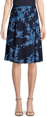 Draper James Shadow Floral A-Line Skirt