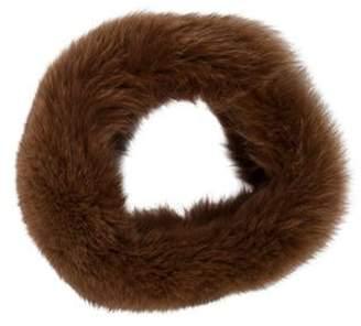 Fox Fur Snood Brown Fox Fur Snood