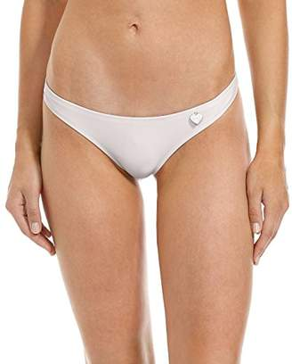 Body Glove Women's Smoothies Thong Solid Minimal Coverage Bikini Bottom Swimsuit