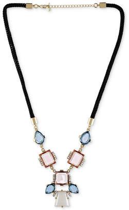 Rachel Roy Gold-Tone Mixed Stone Rope Necklace