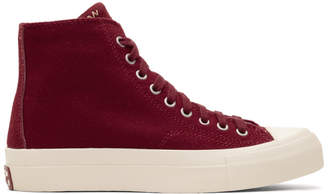 Visvim Burgundy Skagway High-Top Sneakers