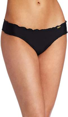 Luli Fama Women's Cosita Buena Wavey Brazilian Ruched Bikini Bottom